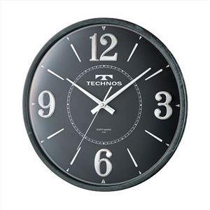 TECHNOS(テクノス) 掛時計 ラウンド W-685 SFB ブラック