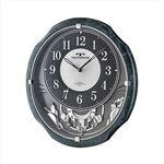 TECHNOS(テクノス) 掛時計 メロディ W-686 SFB ブラック