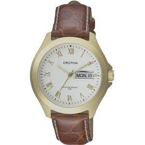 CROTON(クロトン)  腕時計 3針 デイデイト 日本製 10気圧防水 RT-144M-B - 拡大画像