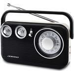 レトロ AM/FMラジオ ブラック RA-601BK