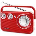 レトロ AM/FMラジオ レッド RA-601RD
