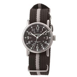 CROTON (クロトン) 腕時計メンズ 3針 ナイロン RT-173M-02 - 拡大画像