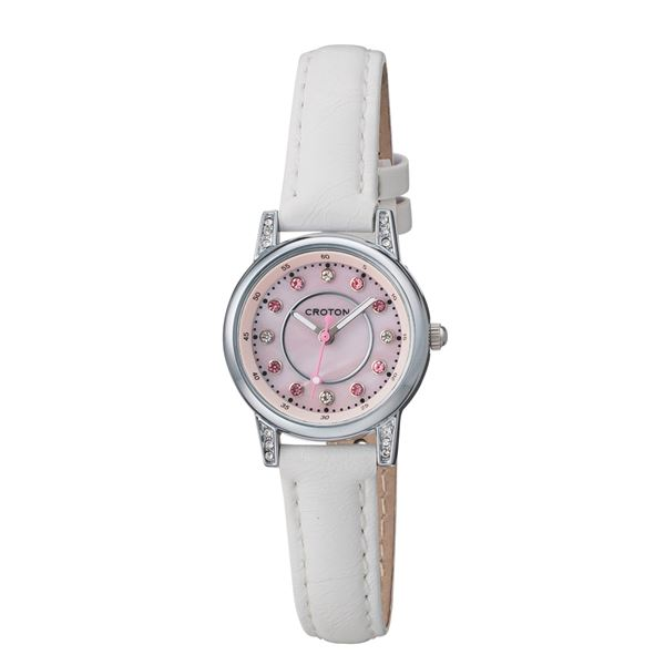 CROTON (クロトン) 腕時計レディース 3針 ストーンインデックス RT-170L-G