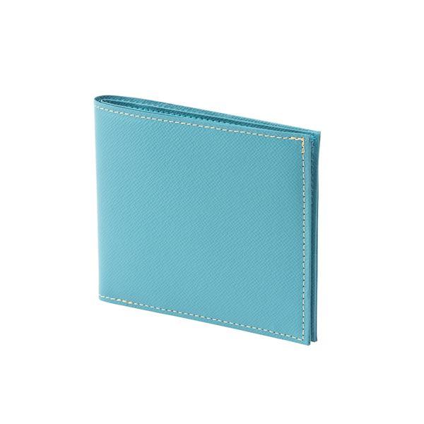 FRUH(フリュー) 日本製 極薄 2つ折り スマートウォレット GL012L-SAX サックス