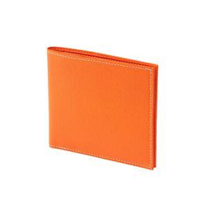 FRUH(フリュー) 日本製 極薄 2つ折り スマートウォレット GL012L-OR オレンジ - 拡大画像