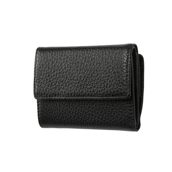FRUH(フリュー) イタリアンレザー 3つ折り財布 コンパクトウォレット GL032-BK ブラック