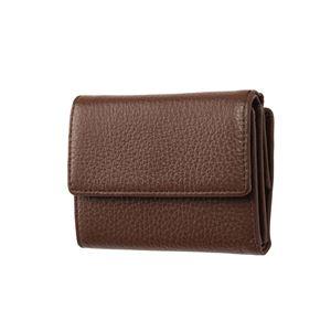 FRUH(フリュー) イタリアンレザー 3つ折り財布 コンパクトウォレット GL032-BR ブラウン - 拡大画像