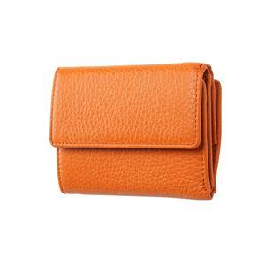 FRUH(フリュー) イタリアンレザー 3つ折り財布 コンパクトウォレット GL032-OR オレンジ - 拡大画像