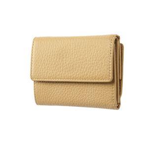 FRUH(フリュー) イタリアンレザー 3つ折り財布 コンパクトウォレット GL032-BE ベージュ - 拡大画像