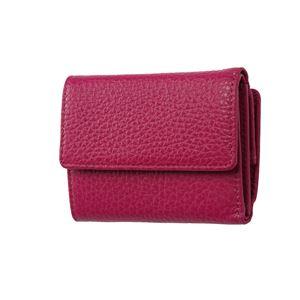 FRUH(フリュー) イタリアンレザー 3つ折り財布 コンパクトウォレット GL032-GP グレープ - 拡大画像