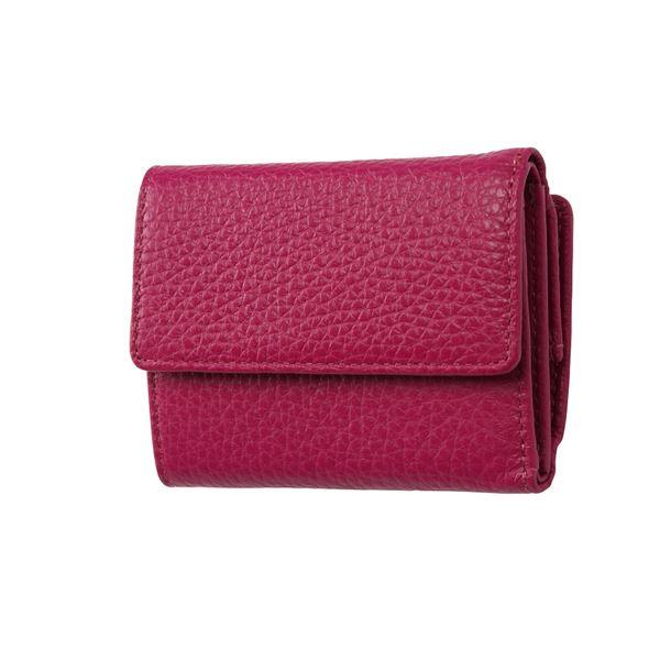 FRUH(フリュー) イタリアンレザー 3つ折り財布 コンパクトウォレット GL032-GP グレープ