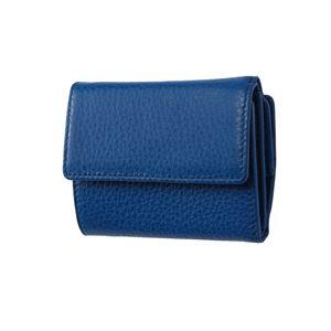 FRUH(フリュー) イタリアンレザー 3つ折り財布 コンパクトウォレット GL032-BL ブルー - 拡大画像