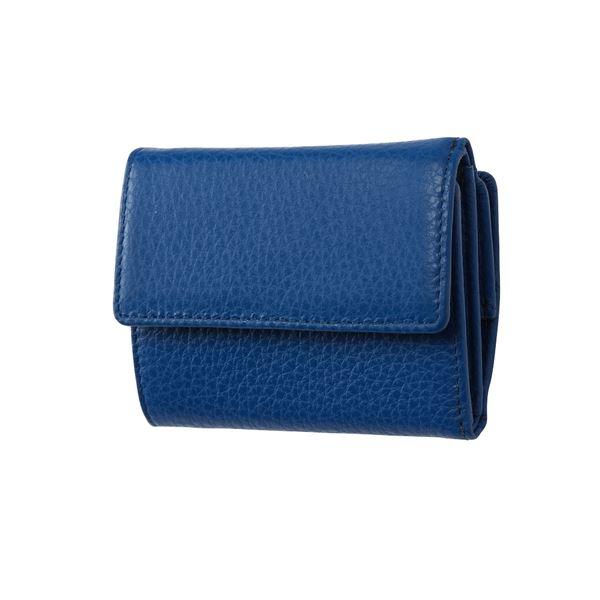 FRUH(フリュー) イタリアンレザー 3つ折り財布 コンパクトウォレット GL032-BL ブルー