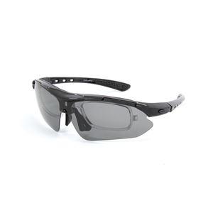 olink(オーリンク) 偏光レンズ スポーツサングラス フルセット 専用交換レンズ5枚 Olink203-BK ブラック - 拡大画像