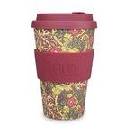 Ecoffee Cup(エコーヒー カップ) カップ ソーサー 繰り返し使える 環境に優しい バンブーファイバー 400ml Seaweed-winered [600 505]