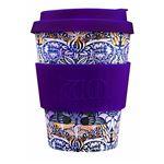 Ecoffee Cup(エコーヒー カップ) カップ ソーサー 繰り返し使える 環境に優しい バンブーファイバー 355ml Peacock [600 601]