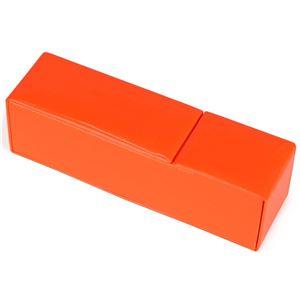 エナメル調 マグネット式 メガネケース オレンジ CY-6176-22 - 拡大画像