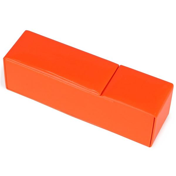 エナメル調 マグネット式 メガネケース オレンジ CY-6176-22
