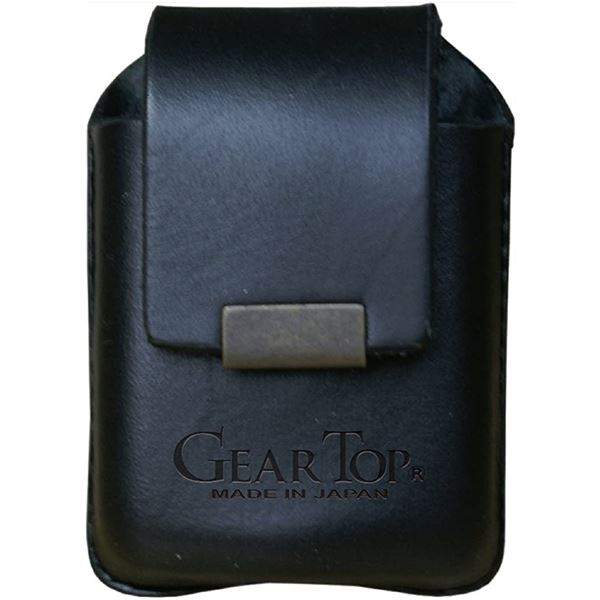 GEAR TOP(ギア トップ) 日本製 レザーライターケース ベルトループタイプ【ブラック】