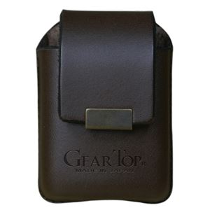 GEAR TOP(ギア トップ) 日本製 レザーライターケース ベルトループタイプ【ブラウン】 - 拡大画像