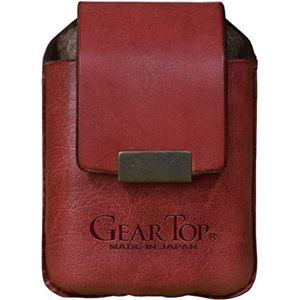 GEAR TOP(ギア トップ) 日本製 レザーライターケース ベルトループタイプ【レッド】 - 拡大画像