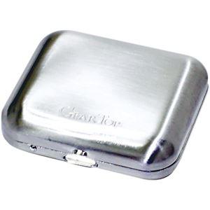 GEAR TOP(ギア トップ) 日本製 携帯灰皿 タバコ置きスタンド付き 【ダイヤシルバーサテーナ仕上げ】 - 拡大画像