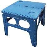 SLOWER(スロウワー) FOLDING TABLE Chapel 踏み台 折りたたみチェア ブルー