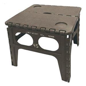 SLOWER(スロウワー) FOLDING TABLE Chapel 踏み台 折りたたみチェア オリーブ - 拡大画像