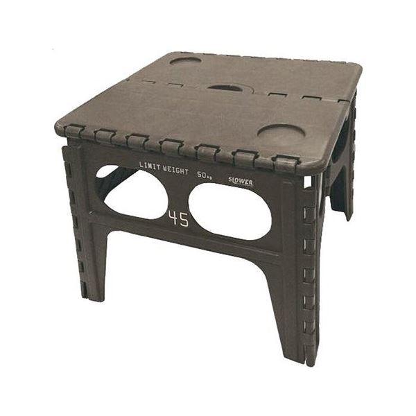 SLOWER(スロウワー) FOLDING TABLE Chapel 踏み台 折りたたみチェア オリーブ