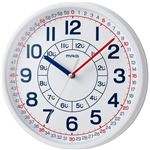 MAG(マグ) 掛け時計 非電波 アナログ 知育時計 よーめる ホワイト