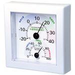 クレセル 快適環境温湿度計 壁掛け・卓上用スタンド付き ホワイト TR-100W