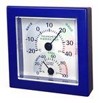 クレセル 快適環境温湿度計 壁掛け・卓上用スタンド付き ブルー TR-100BB