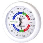 クレセル 温湿度計(快適家電管理表示) 壁掛け・卓上用スタンド付き ホワイト TR-130W