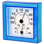 クレセル 温湿度計 壁掛け・卓上用 ブルー CR-12B