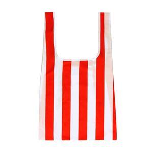 KIND BAG(カインド バック) 100% ペットボトル再生 折りたたみ エコバック Red Stripes - 拡大画像
