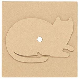 カントリークラフト ミニクロック・しゃがみ猫 - 拡大画像