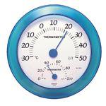 クレセル 日本製 温湿度計 壁掛け用 ブルー CR-223B