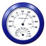クレセル 日本製 温湿度計 壁掛け用 ブルー CR-221BB