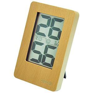 クレセル 天然木 デジタル 温湿度計 壁掛け・卓上用 ナチュラル CR-2200W - 拡大画像