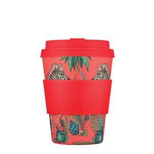Ecoffee Cup(エコーヒー カップ) カップ ソーサー 繰り返し使える 環境に優しい バンブーファイバー 350ml LOST WORLD [650 607] - 拡大画像