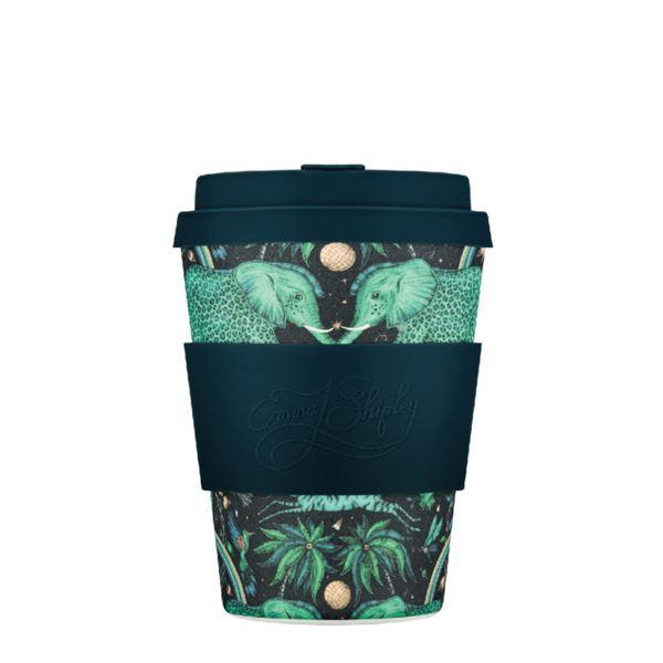 Ecoffee Cup(エコーヒー カップ) カップ ソーサー 繰り返し使える 環境に優しい バンブーファイバー 350ml ZAMBEZI [650 608]