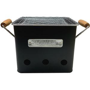 SLOWER BBQ STOVE Alta ポータブル グリル Sサイズ ブラック - 拡大画像