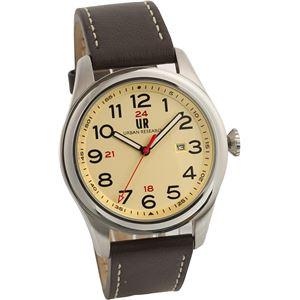 URBAN RESEARCH(アーバンリサーチ) 腕時計 UR001-03 メンズ ブラウン - 拡大画像