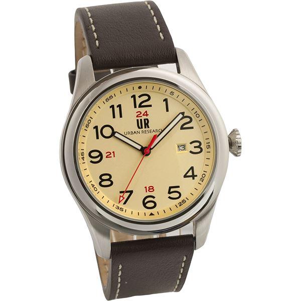 URBAN RESEARCH(アーバンリサーチ) 腕時計 UR001-03 メンズ ブラウン