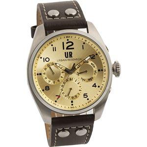 URBAN RESEARCH(アーバンリサーチ) 腕時計 UR002-03 メンズ ブラウン - 拡大画像