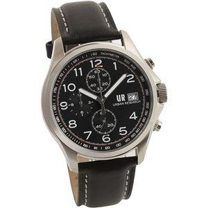 URBAN RESEARCH(アーバンリサーチ) 腕時計 UR003-01 メンズ ブラック - 拡大画像