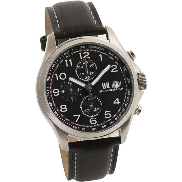 URBAN RESEARCH(アーバンリサーチ) 腕時計 UR003-01 メンズ ブラック