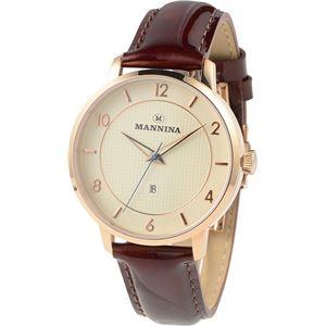 MANNINA(マンニーナ) 腕時計 MNN001-02 メンズ 正規輸入品 ブラウン(文字盤:シルバー) - 拡大画像