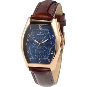 MANNINA(マンニーナ) 腕時計 MNN003-02 メンズ 正規輸入品 ブラウン(文字盤:ネイビー) - 拡大画像