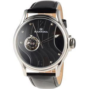MANNINA(マンニーナ) 腕時計 MNN004-01 メンズ 正規輸入品 ブラック - 拡大画像